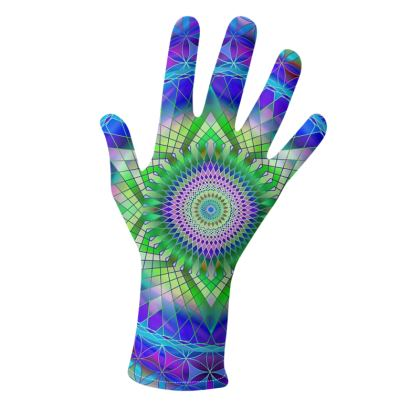 Gloves Green Snowflake