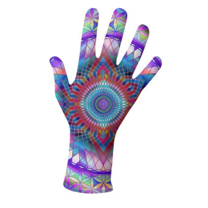 Gloves Purple Snowflake
