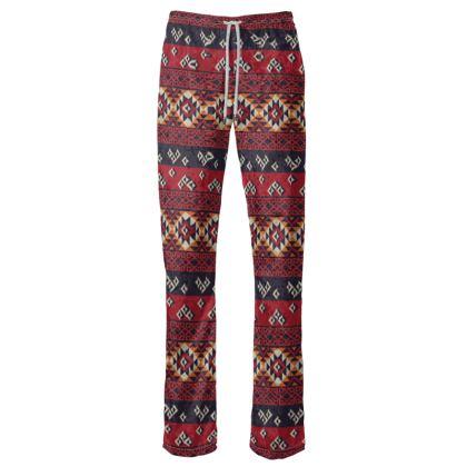 Womens Trousers Mayan Pattern