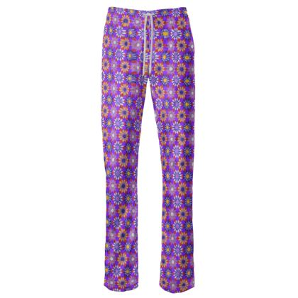 Womens Trousers Floral Kaleidoscope
