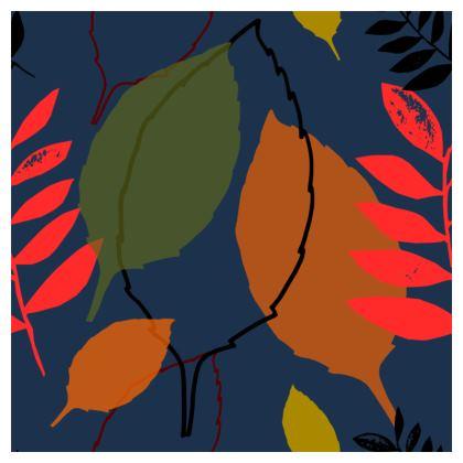 Cushion. Autumn Leaves_pink