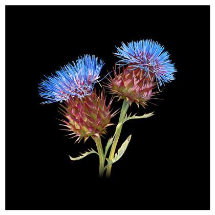 Scottish Thistle Luxury Cushion (Black)
