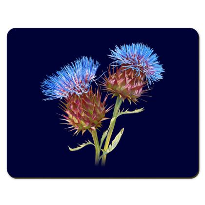 Placemats - Scottish Thistle (Navy)