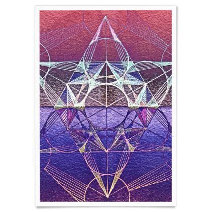 Paper Poster Metatron's Cube