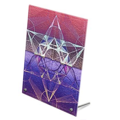 Glass Frame Metatrons Cube