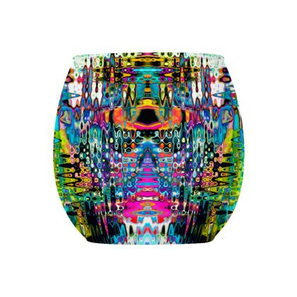 Glass Tealight Holder Abstract City