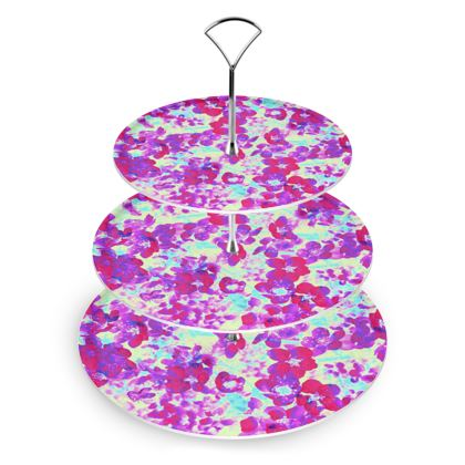 Cake Stand Spring Flowers