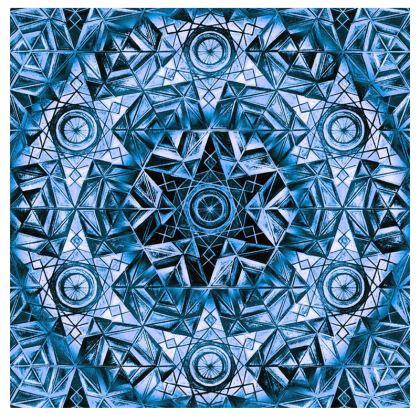 Mens Wallet Blue Kaleidoscope Pattern