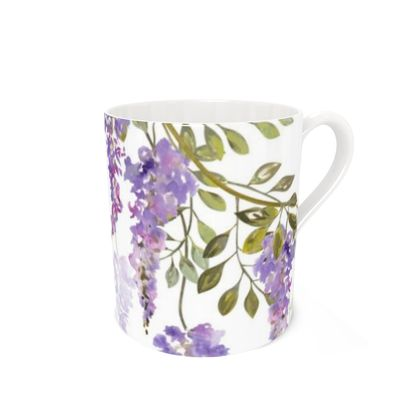 Bone China Mug - Wisteria Blossoms