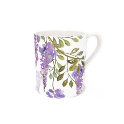 Regular Bone China Mug - Wisteria Blossoms