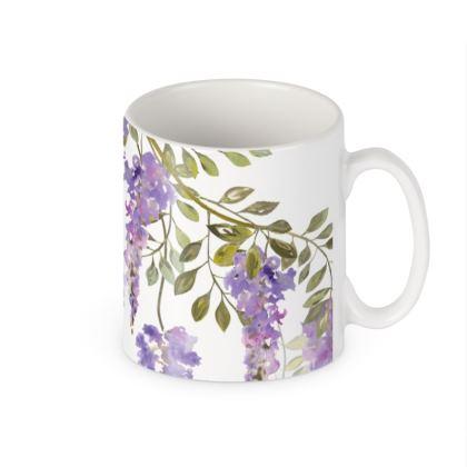 Ceramic Mug - Wisteria Blossoms