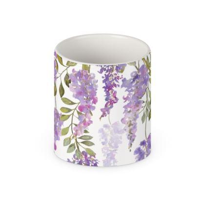 Wisteria Blossoms Ceramic Mug