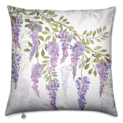 Wisteria Blossoms Luxury Cushion