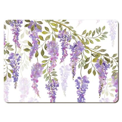 Large Placemats - Wisteria Blossoms
