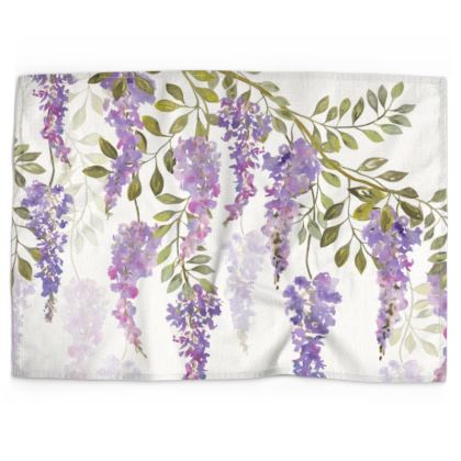 Wisteria Blossoms Tea Towel
