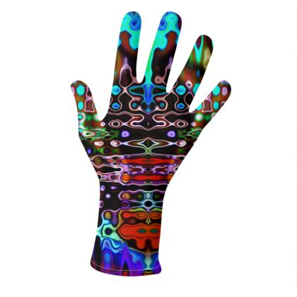 Gloves Dark Splashes