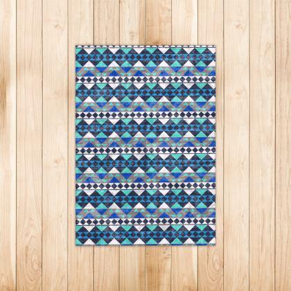 Rugs Mayan Pattern Blue