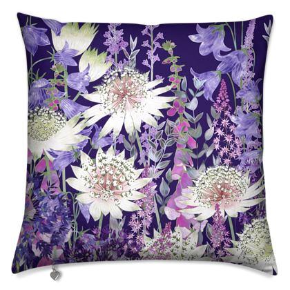 Midnight Garden of Wonder Cushion