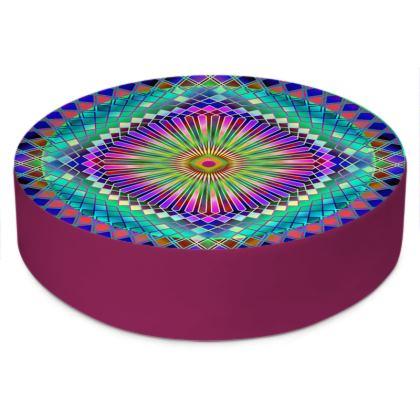 Round Floor Cushions Sun Mandala