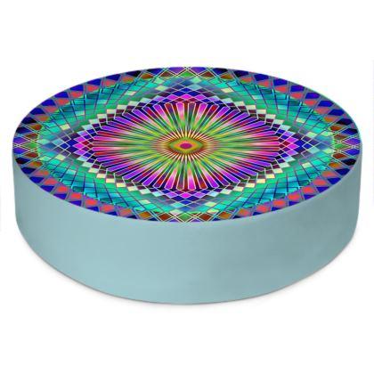 Round Floor Cushions Sun Mandala 2
