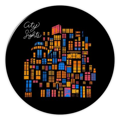 City Sites China Plate
