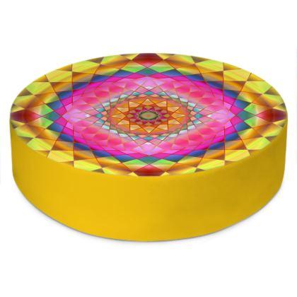 Round Floor Cushions Rainbow Mandala 3