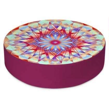 Round Floor Cushions Mandala 4