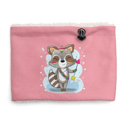 the cutie raccoon  sherpa snood