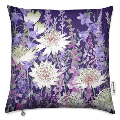 Midnight Garden of Wonder Luxury Cushion (1)