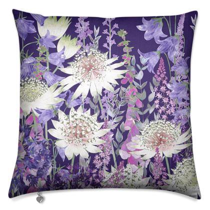 Midnight Garden of Wonder Luxury Cushion