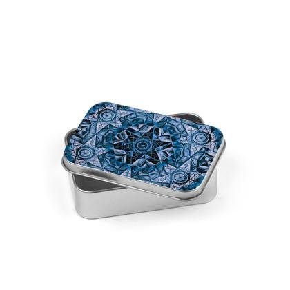 Silver Tin Blue Kaleidoscope