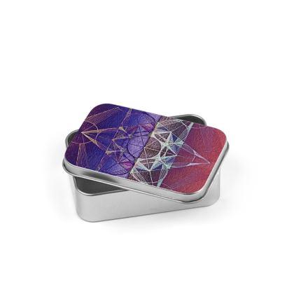 Silver Tin Metatrons Cube Handdrawing 2