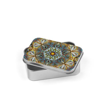 Silver Tin Kaleidoscope Handdrawing