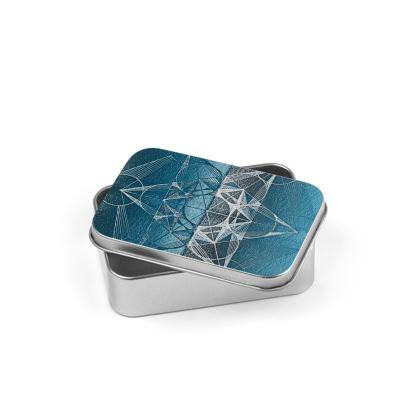 Silver Tin Metatrons Cube Handdrawing