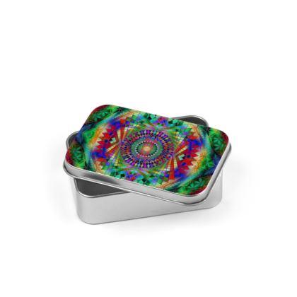 Silver Tin Rainbow Mandala