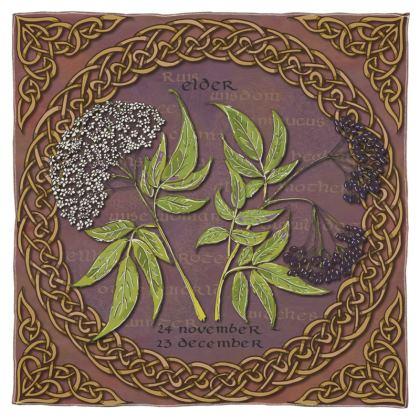Tree Calendar Elder Scarf Wrap or Shawl