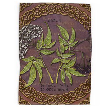 Tree Calendar Elder Tea Towel