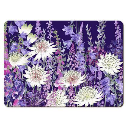 Large Placemats - Midnight Garden of Wonder
