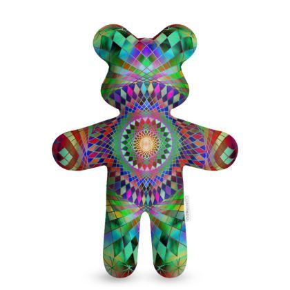 Teddy Bear Rainbow Mandala