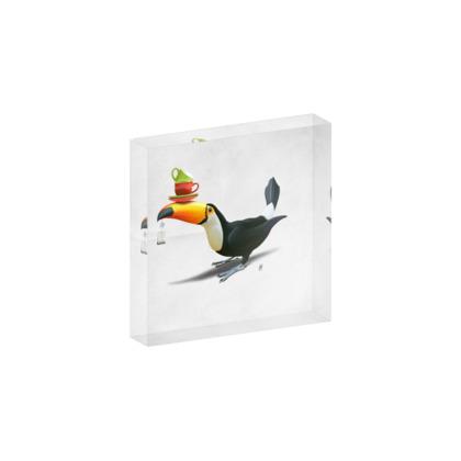 Tea for Tou ~ Wordless Animal Behaviour Acrylic Photo Blocks