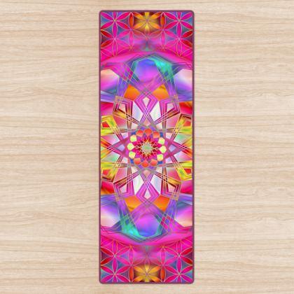 Yoga Mat Pink Mandala