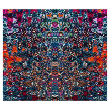 Skirt Splashes Blue Brown