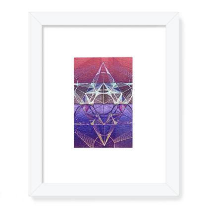 Framed Art Prints Metatrons Cube Handddrawing