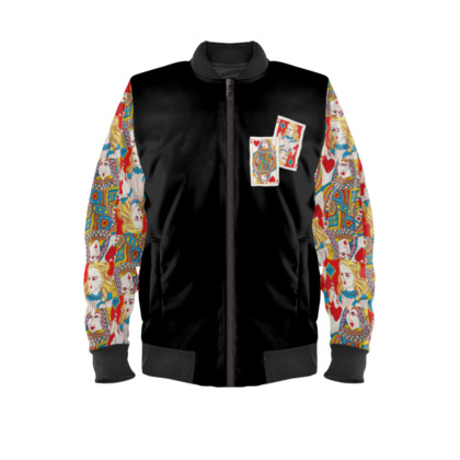 Alice in Wonderland and The Queen of Hearts Bomber Jacket