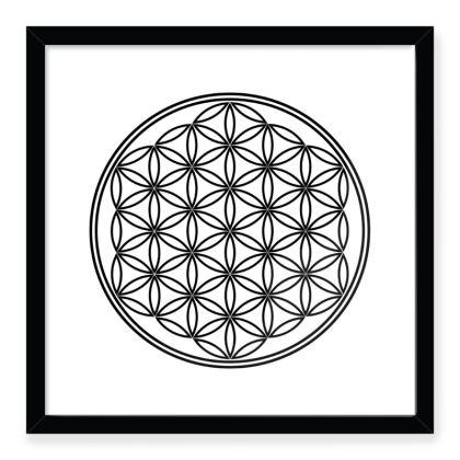 Framed Art Prints Flower Of Life Outline