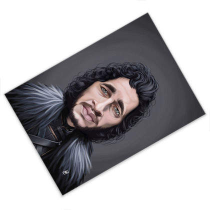 Kit Harington Celebrity Caricature Postcard