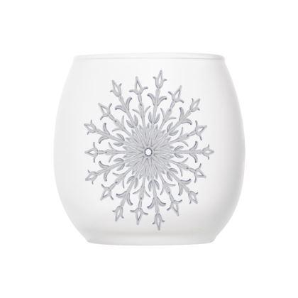White Christmas, Glass Tealight Holder