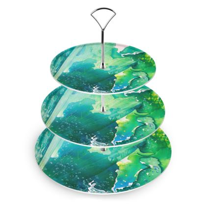 Environmental Considerations Deep Sea Bubbles Cake Stand