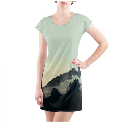 Misty Mountain Ladies Tunic T Shirt