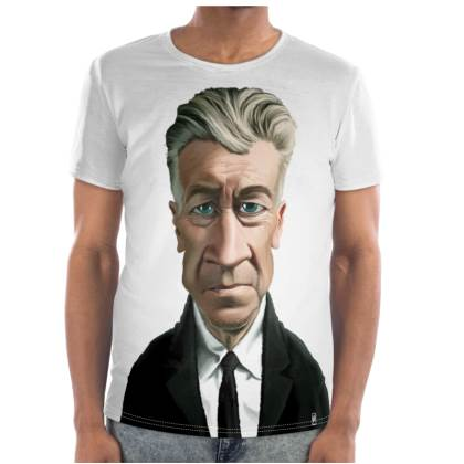 David Lynch Celebrity Caricature Cut and Sew T Shirt